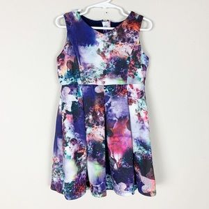 Pippa & Julie sky galaxy sleeveless dress- H